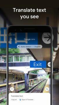 Google Lens offline překladač - cedule