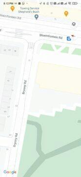 Google Mapy detaily ulic chodníků Londýn nové