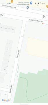Google Mapy detaily ulic chodníků Londýn staré