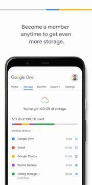 Google One uloziste
