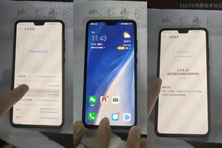 HarmonyOS Huawei P30 Mate 30 Pro