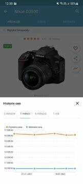 Heuréka.cz historie cen 1 měsíc