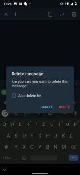 jak odstranit zprávu telegram