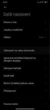 jak vypnout dolní menu softwarová tlačítka MIUI 2 další nastavení