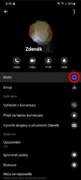 jak změnit barvu Messenger chatu nastavení konverzace