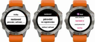 Kuki aplikace hodinky Garmin ukázka