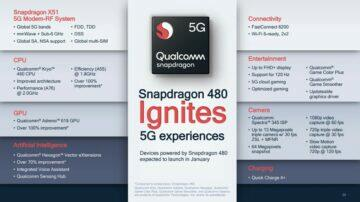 parametry a specifikace qualcomm snapdragon 480 5g