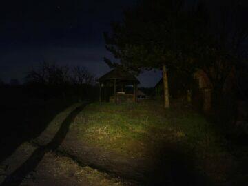 S20 noční zahrada před fotografování Samsung Galaxy S21 S20 Ultra