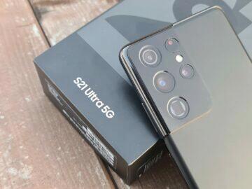 Samsung Galaxy S21 Ultra balení fotoaparáty
