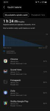 Samsung Galaxy S21 Ultra baterie využití nabití