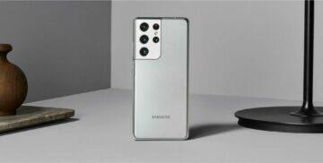 Samsung Galaxy S21 Ultra stříbrná