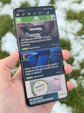 Samsung Galaxy S21 Ultra výška displej Svět Androida