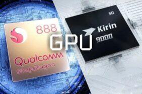 Snapdragon 888 Kirin 9000 GPU porovnání