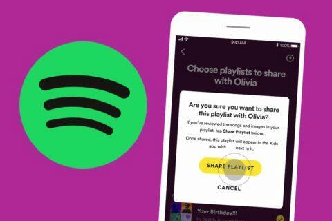 Spotify Kids sdílené playlisty