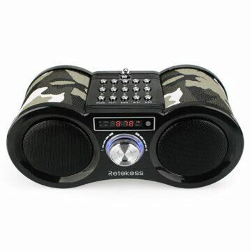 sluchátka s nahráváním hovorů Stylové multifunkční army rádio Retekess V113