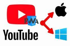 YouTube PWA aplikace