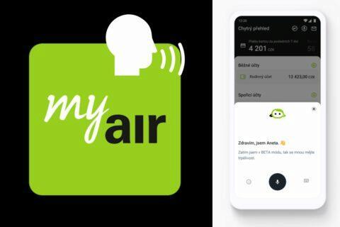 Air Bank asistentka Aneta v aplikaci