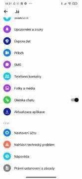 Android 10 jak zapnout vypnout messenger bubliny menu