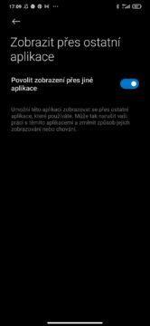 Android 10 zobrazit přes ostatní aplikace