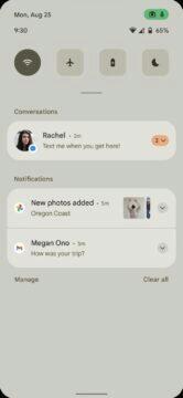 Android 12 notifikacni lista