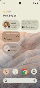 Android 12 změna vzhledu - widgety