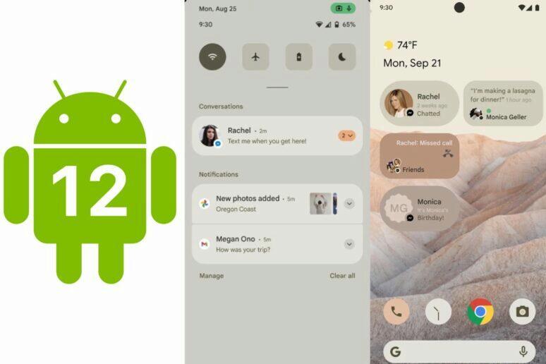Android 12 změna vzhledu