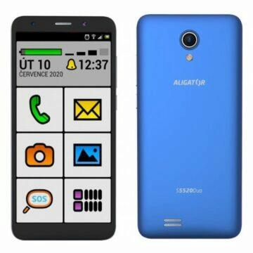 Android telefony pro seniory Aligator S5520 senior