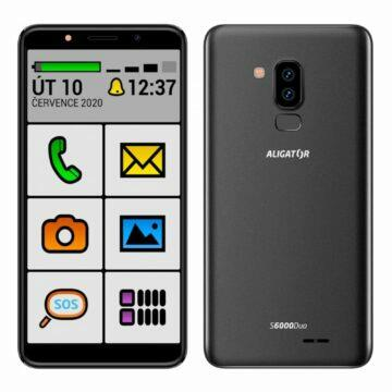 Android telefony pro seniory Aligator S6000 senior