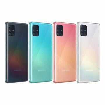 Android telefony pro seniory Samsung Galaxy A51 barvy
