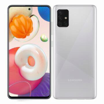 Android telefony pro seniory Samsung Galaxy A51 stříbrná