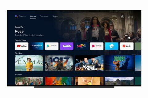 Android TV uživatelské rozhraní Google TV
