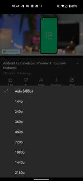 Android YouTube 4K na všech mobilech