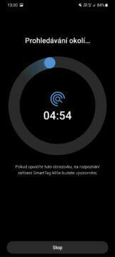 aplikace SmartThings hledání bez signálu