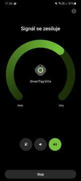 aplikace SmartThings hledání prozvánění