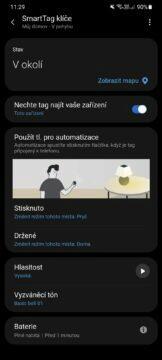 aplikace SmartThings nastavení přívěsku