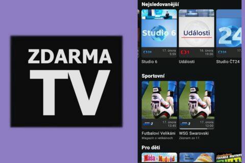 aplikace Zdarma TV