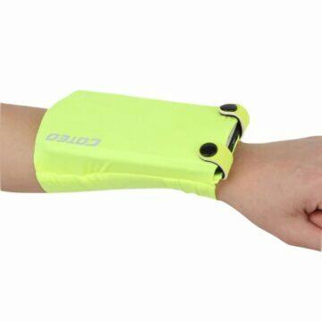 Běžecký nátepník s kapsou na mobil zelená