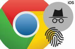 Chrome iOS biometrické zabezpečení anonymních karet