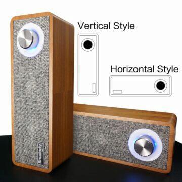 Dřevěný Bluetooth reproduktor STONEGO vertical horizontal