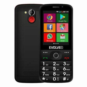 EVOLVEO EasyPhone AD černá záda displej