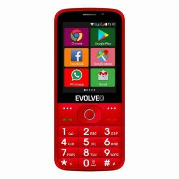 Android telefony pro seniory EVOLVEO EasyPhone AD červená