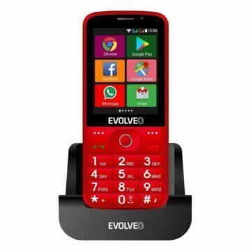 Android telefony pro seniory EVOLVEO EasyPhone AD červená nabíjení
