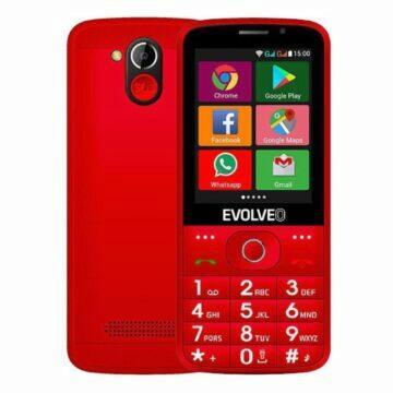 Android telefony pro seniory EVOLVEO EasyPhone AD červená záda displej