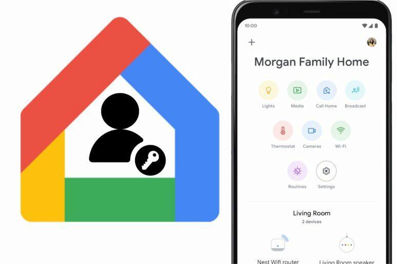 Google Home uživatelské oprávnění