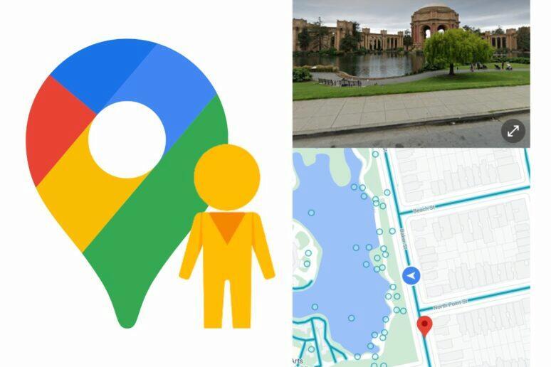 Google Mapy street view rozdělení obrazovky