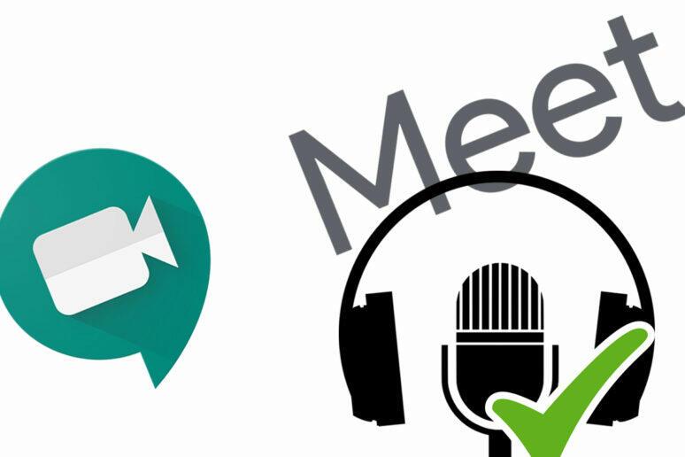 Google Meet zkontroluje audio a video před připojením