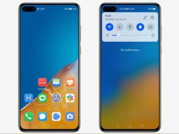HarmonyOS kopie Android 10 roletka