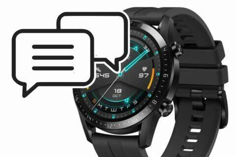 Huawei Watch GT 2 odpovídání na SMS