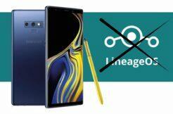 LineageOS konec podpory Samsung S9 Note 9