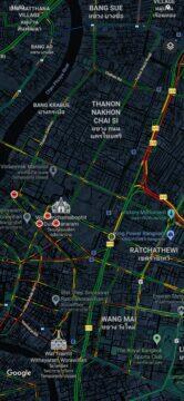 mapa pohled na intenzitu dopravy